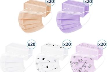 100 Kids Disposable Masks for $9.60!