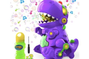 Dinosaur Bubble Blower Machine Only $24.77 (Reg. $36)!