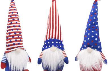 Three Patriotic Gnomes for $13.80!