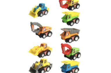 9 Construction Vehicles Fun Pull Back Cars Only $7.64 (Reg. $16)!