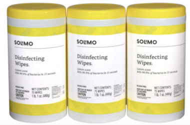 3 Pack Solimo Disinfecting Wipes As Low As $7.64 Shipped!