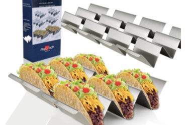 Set of 6 Stainless Steel Taco Holders Only $13.17 (Reg. $24)!