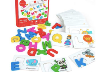 Wooden Letter and Flash Card Set Just $9.98 (Reg. $20)!