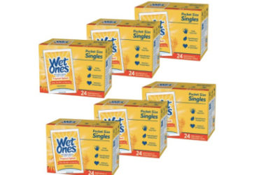 6 Pack Wet Ones Antibacterial Hand & Face Wipes As Low As $9.84 Shipped!