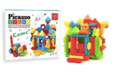 HOT! 120-Piece Assorted Bristle Blocks Set Just $14.99 (Reg. $90)!