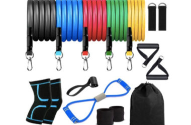 16pc Resistance Bands Set Only $6.99!