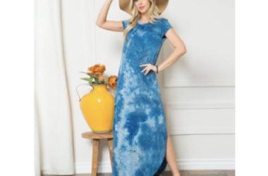 Tie-Dye Side Slit Maxi Dress Only $15.99 (Reg. $43)!