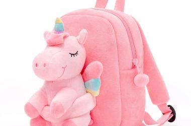 Unicorn Plush Toddler Backpack for $13.99!!