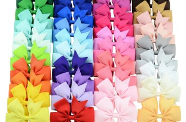 40 Girls Bows with Clips for $6.99!!