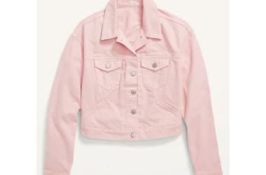 Cropped Pink Jean Jacket Just $20.80 (Reg. $40)!