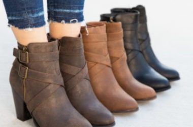 Strappy Double Buckle Booties Only $20.99 (Reg. $75)!
