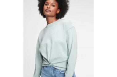 Vintage Soft Twist-Front Crewneck Sweatshirt Only $8.99 (Reg. $55)!
