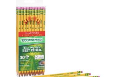30 Pre-Sharpened Ticonderoga Pencils As Low As $4.95 Shipped (Reg. $12.30)!