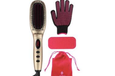 MiroPure 11-Heat Ionic Ceramic Hair-Straightening Brush Only $16.99 (Reg. $60)!