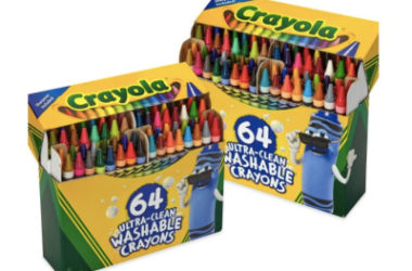2 Pack Crayola 64ct Ultra Clean Crayons Only $13.96!