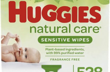 528-Ct Huggies Natural Care Sensitive Wipes for $9.74!