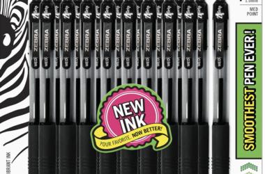 18-Pack Zebra Ballpoint Pens for $3.35!!