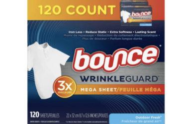 Bounce WrinkleGuard Mega Dryer Sheets As Low As $5.31 Shipped (Reg. $13)!
