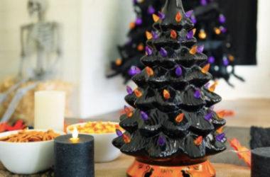 Pre-Lit Ceramic Halloween Tree Only $31.99 (Reg. $65)!
