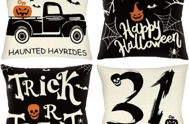 Four Halloween Pillow Covers for $5.99!!