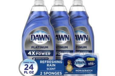 Dawn Dish Soap Platinum + Non-Scratch Sponges As Low As $9.11 Shipped!