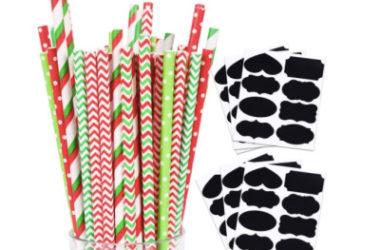 200 Christmas Paper Straws Just $5.50 (Reg. $11)!
